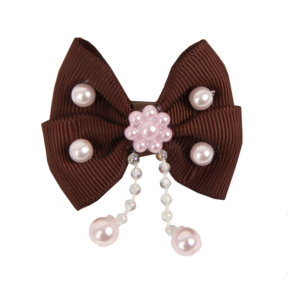 Sally Dog Bow by Pinkaholic - Brown