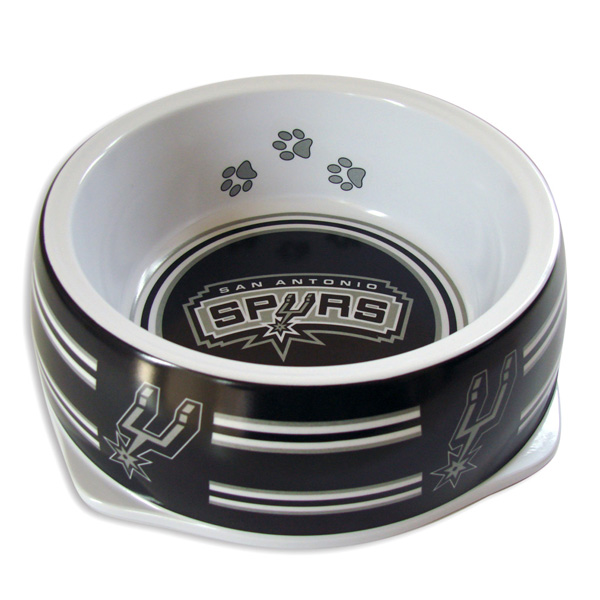 San Antonio Spurs Plastic Dog Bowl