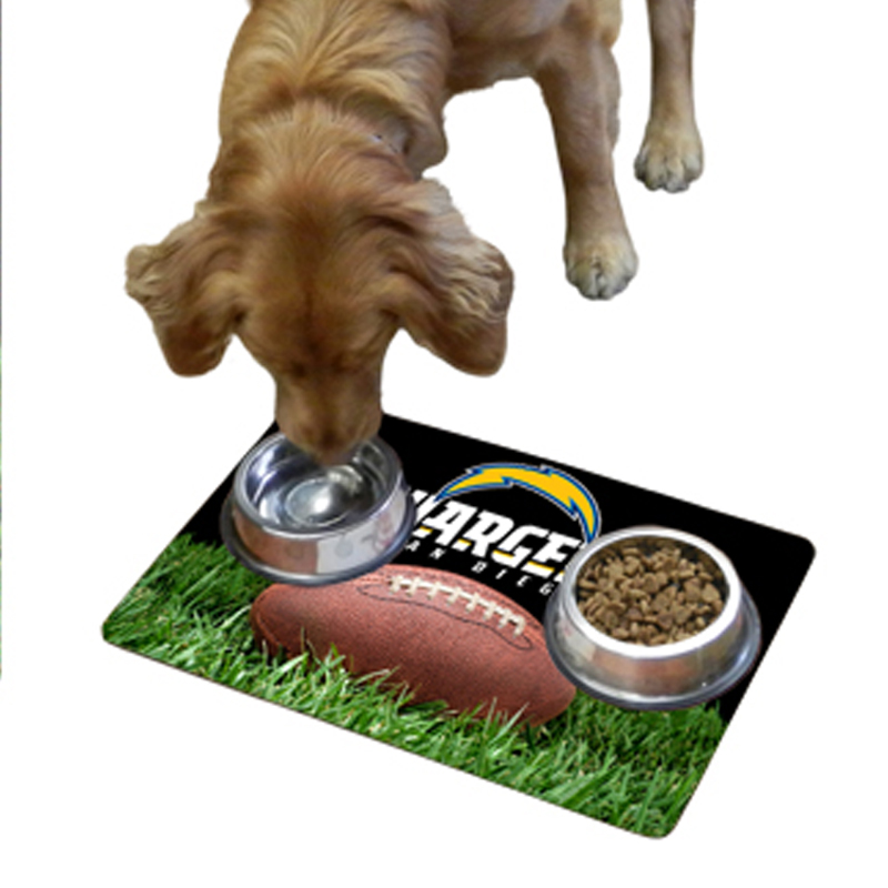 San Diego Chargers Pet Bowl Mat Baxterboo