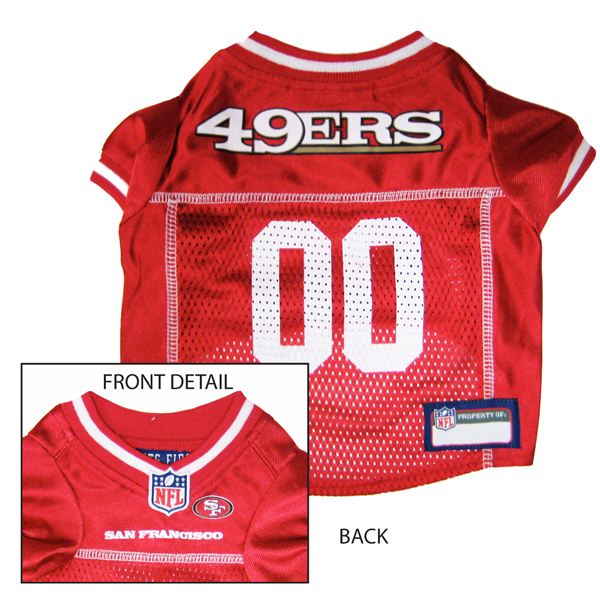 San Francisco 49ers Officially Licensed Dog Jersey - Red with White Trim