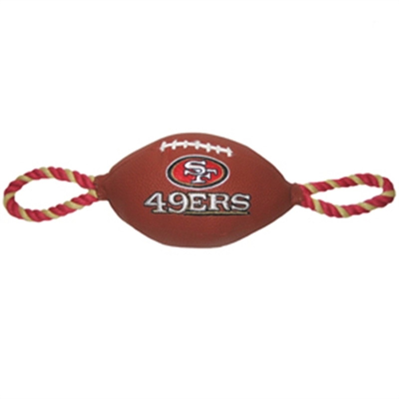 San Francisco 49ers Pebble Grain Football Dog Toy