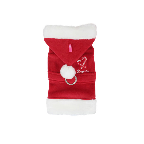 Santa Claus Dog Coat by Pinkaholic - Red