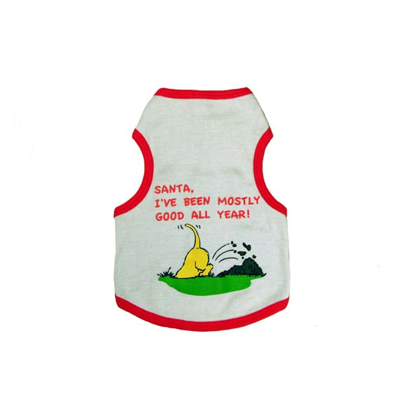 Santa 'I've Been Mostly Good' Dog Tank Top