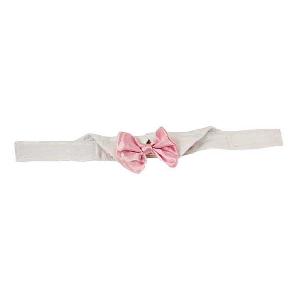 Satin Dog Bowtie Collar - Pink