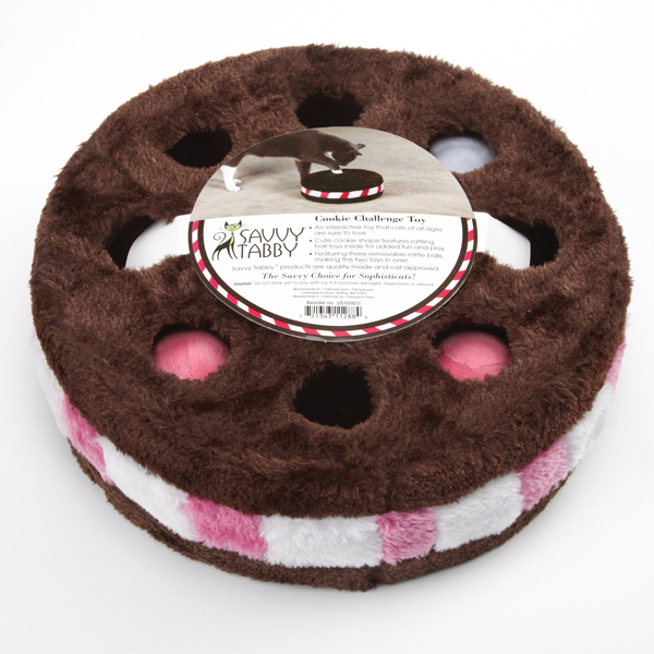Savvy Tabby Cookie Challenge Cat Toy