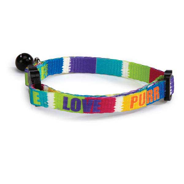 Savvy Tabby Live Love Purr Cat Collar