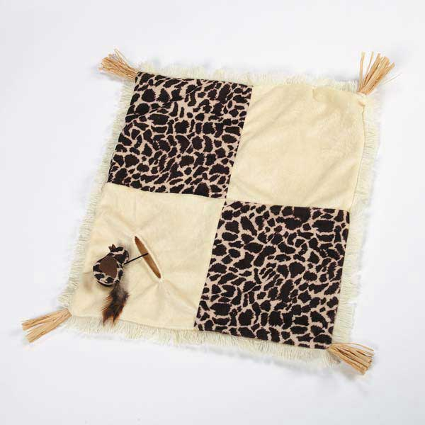 Savvy Tabby Wild Time Play Patch Cat Toy - Brown