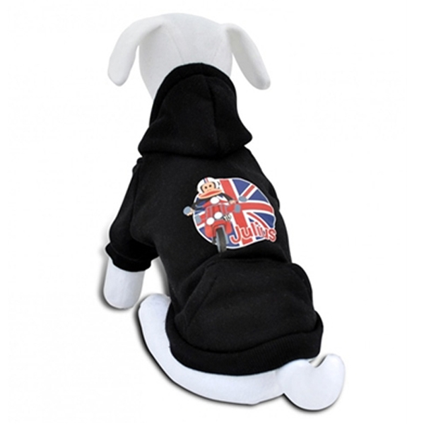 Scoot Julius Hooded Dog Sweatshirt - Black