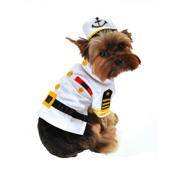 Sea Captain Dog Costume