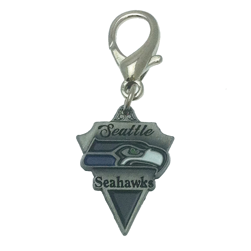Seattle Seahawks Pennant Dog Collar Charm