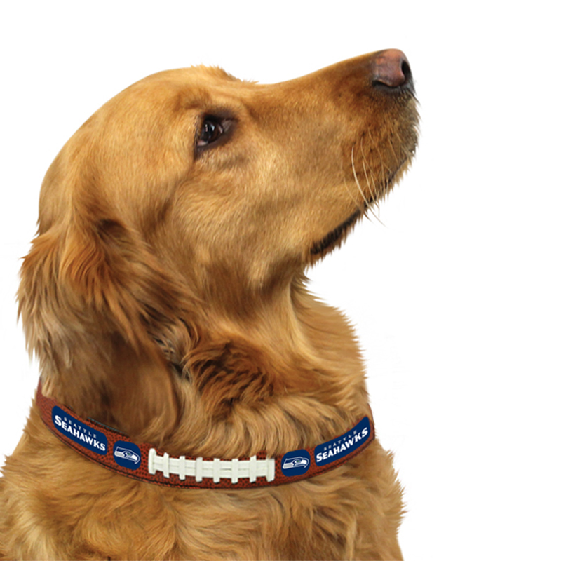 Seattle Seahawks Leather Dog Collar