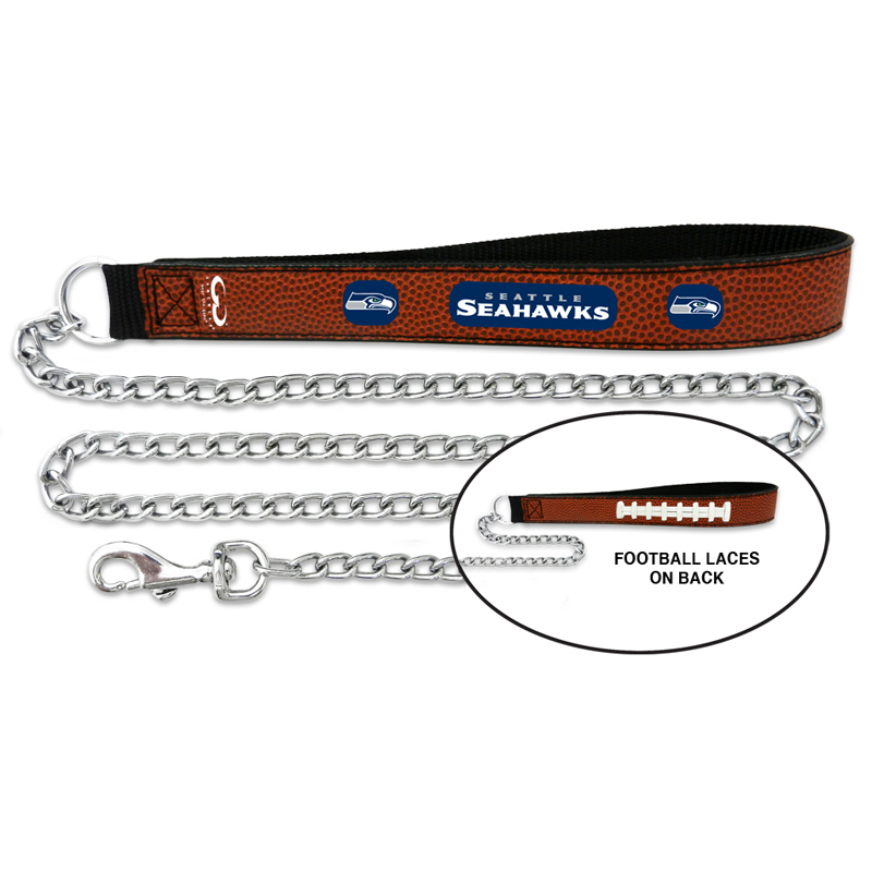 Seattle Seahawks Leather Dog Leash