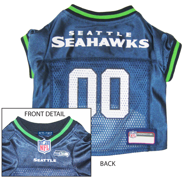 Seattle Seahawks Officially Licensed Dog Jersey - Green Trim