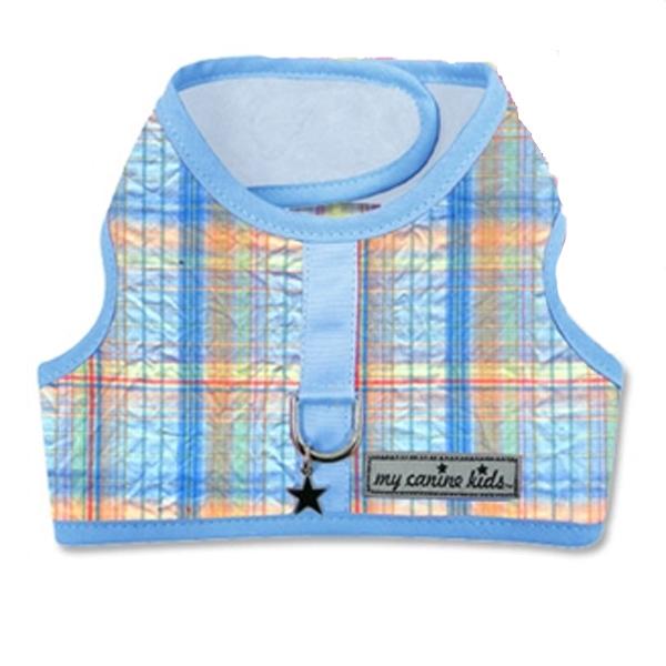 Seersucker Dog Vest Harness - Blue