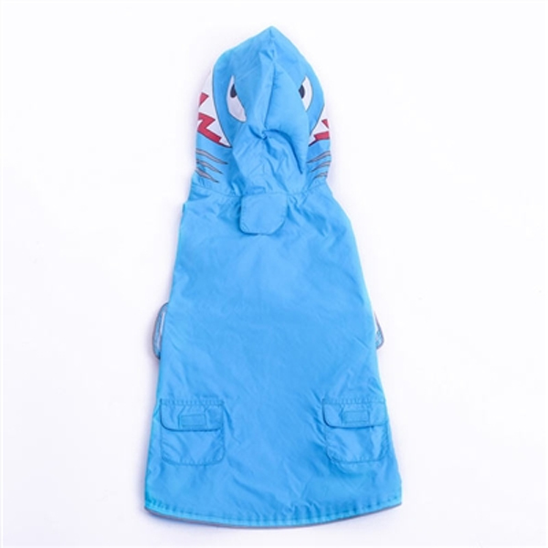 Shark Dog Raincoat by Dogo - Blue
