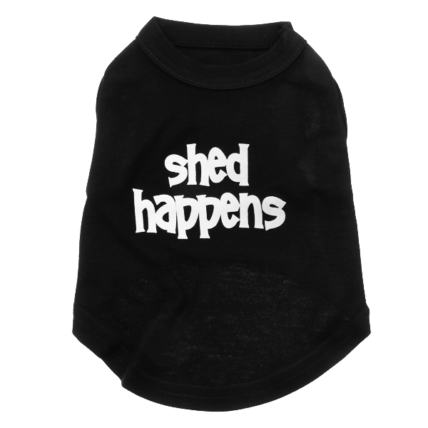 Shed Happens Dog T-Shirt - Black
