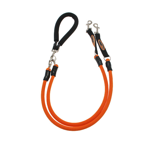 EZ Steps Shock Absorbing Low Impact Coupler Leash - Orange