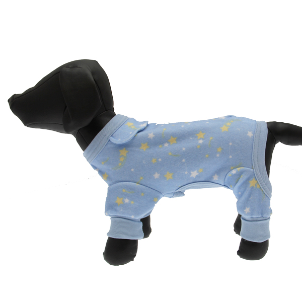 Shooting Stars Fleecy Dog Pajamas - Blue