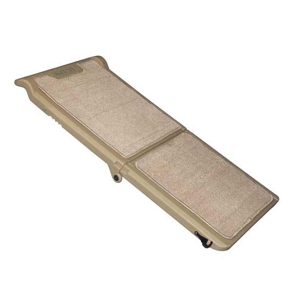 Short Carpeted Bi-Fold Pet Ramp - Tan