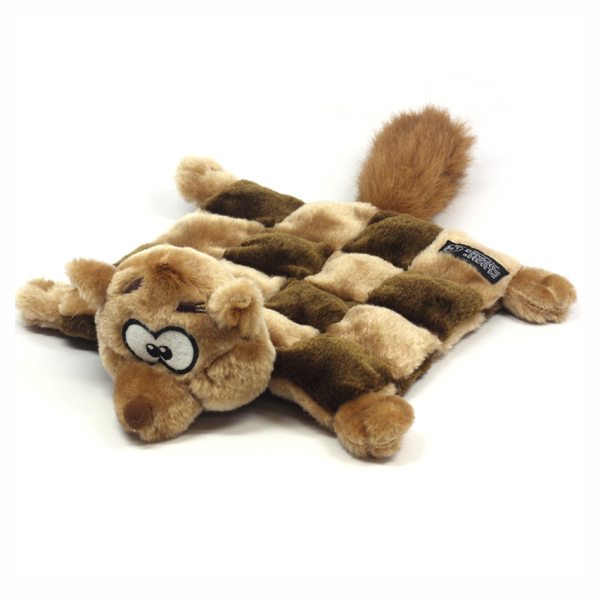 Sidney the Squirrel Squeaker Mat Dog Toy