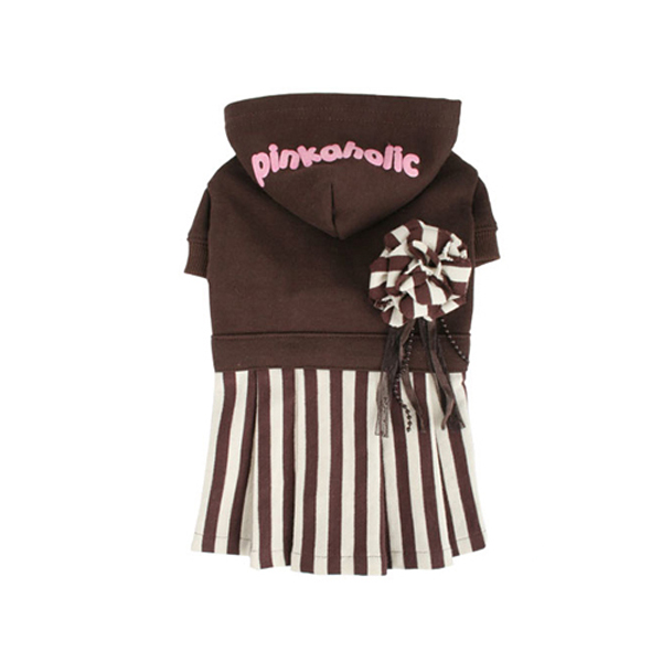 Signature Pinkaholic Stripe Dress - Brown & White