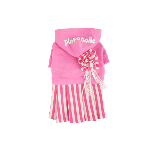 Signature Pinkaholic Stripe Dress - Hot Pink