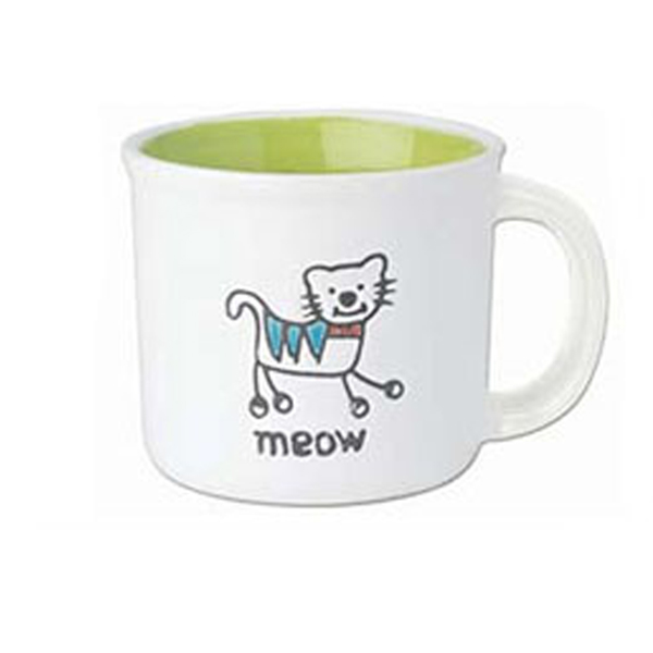 Silly Kitty Mug - Lime Green