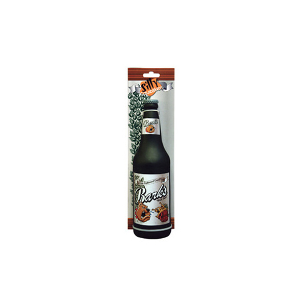 Silly Squeakers Dog Toys - Bark's Woof Beer Bottle