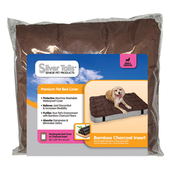 Silver Tails Bamboo Charcoal Rectangular Dog Bed Cover