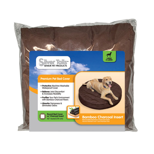 Silver Tails Bamboo Charcoal Round Dog Bed Cover