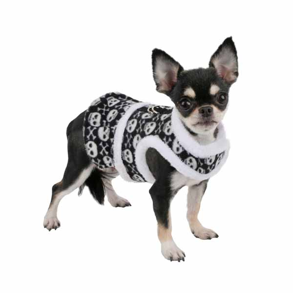 Skully Flirt Dog Harness by Pinkaholic