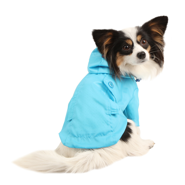 Slicker Dog Rain Jacket by Pinkaholic - Blue