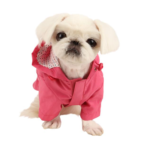 Slicker Dog Rain Jacket by Pinkaholic - Pink