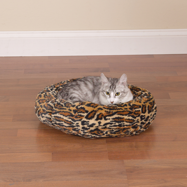 Slumber Pet Cozy Kitty Bed - Cheetah