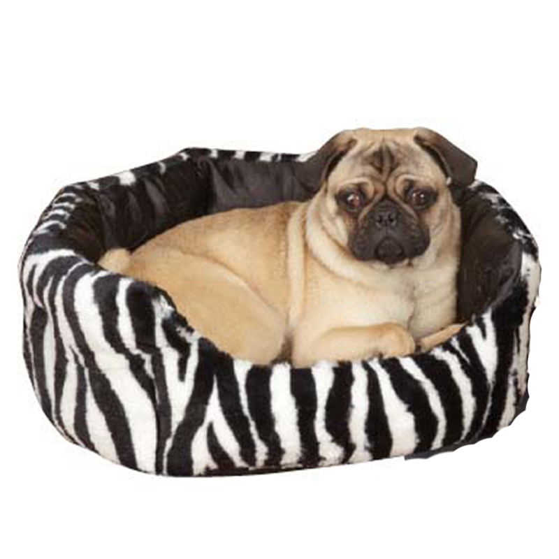 Slumber Pet Plush Safari Nesting Dog Bed - Zebra