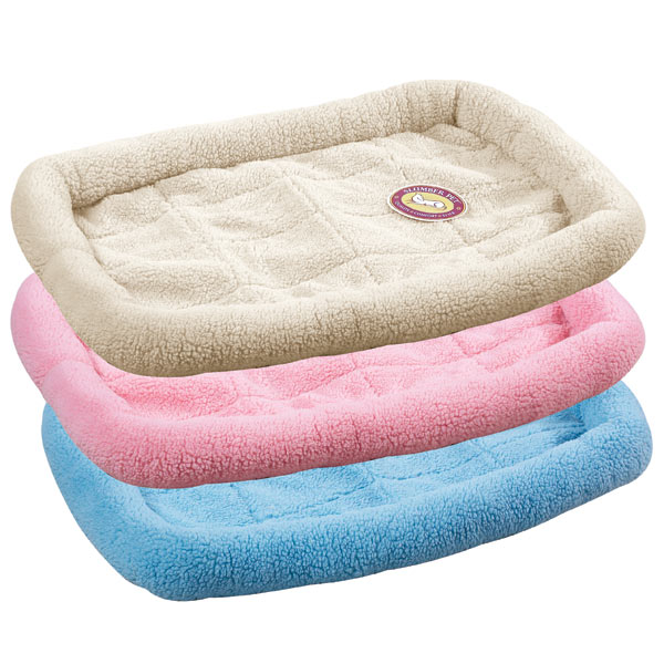 Slumber Pet Sherpa Crate Bed - Sky Blue