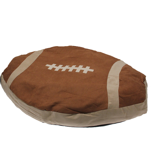 Slumber Pet Superstar Nappers Dog Bed - Football