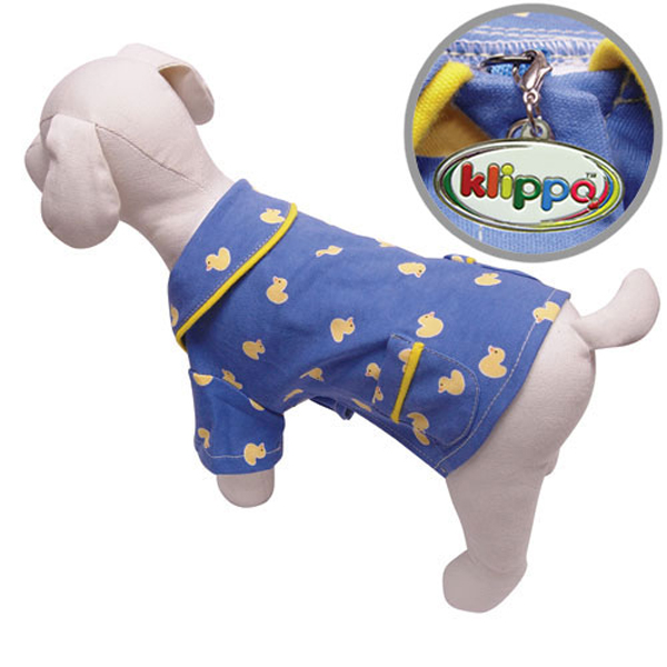 Snoozy Yellow Ducky Dog Pajamas by Klippo