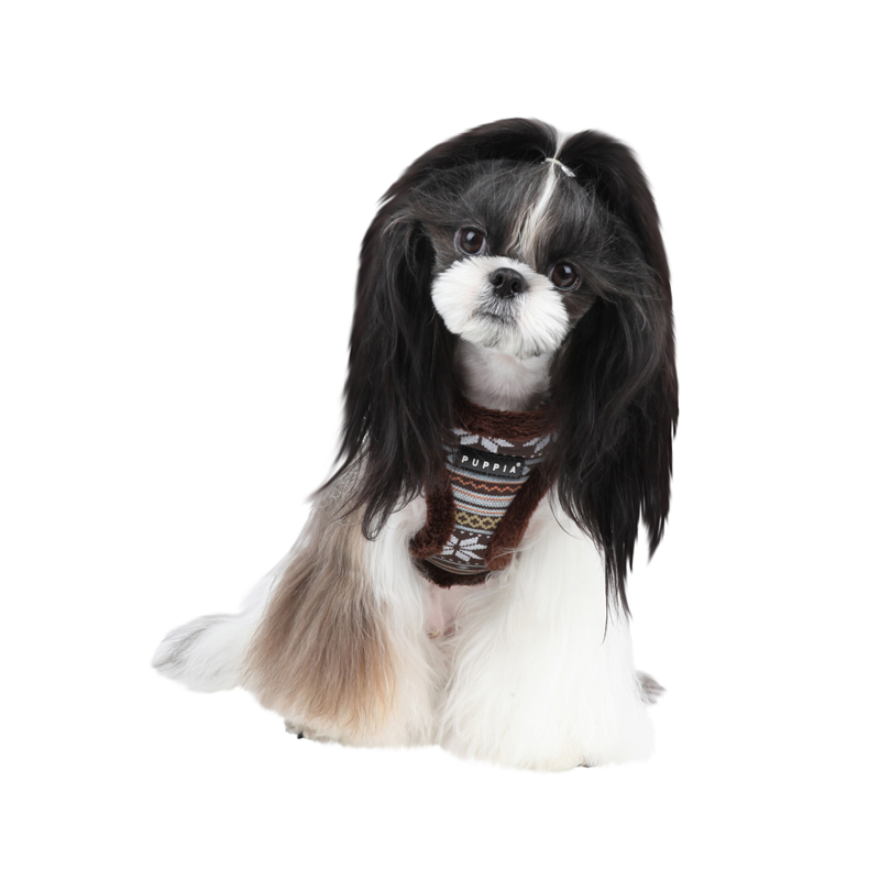 Snowball Dog Harness by Puppia - Brown