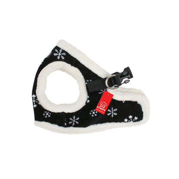 Snowflake Dog Harness Vest by Puppia - Black