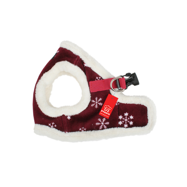 Snowflake Dog Harness Vest by Puppia - Wine