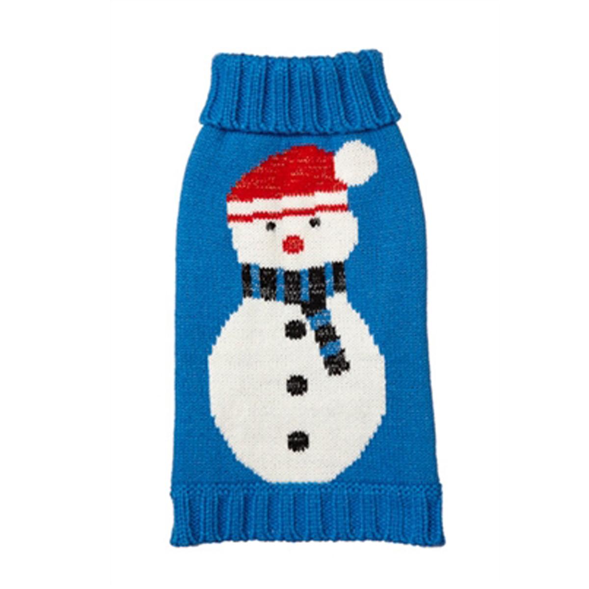 snowman turtleneck dog sweater
