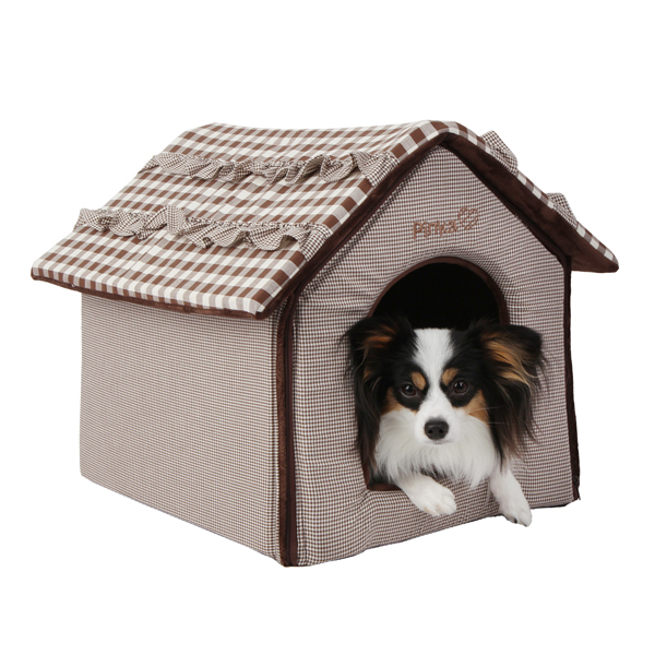 Snug House Dog Bed by Pinkaholic - Brown