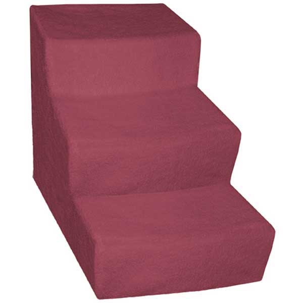 Soft Step Pet Stairs - Burgundy