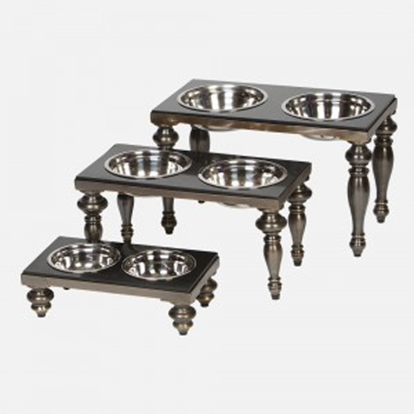 Soho Dog Dining Table - Antique Brass