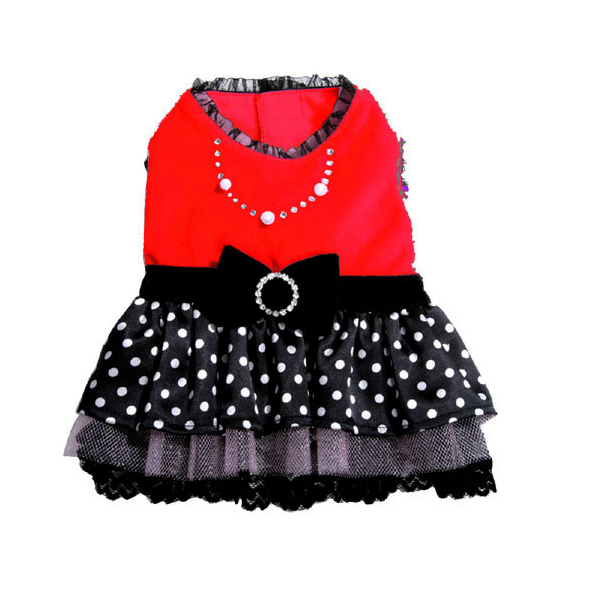 Sophia Polka Dot Party Dog Dress