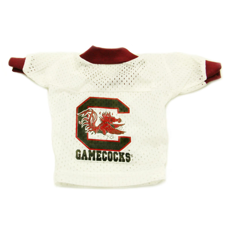 South Carolina Gamecocks Dog Jersey - White with Garnet Trim