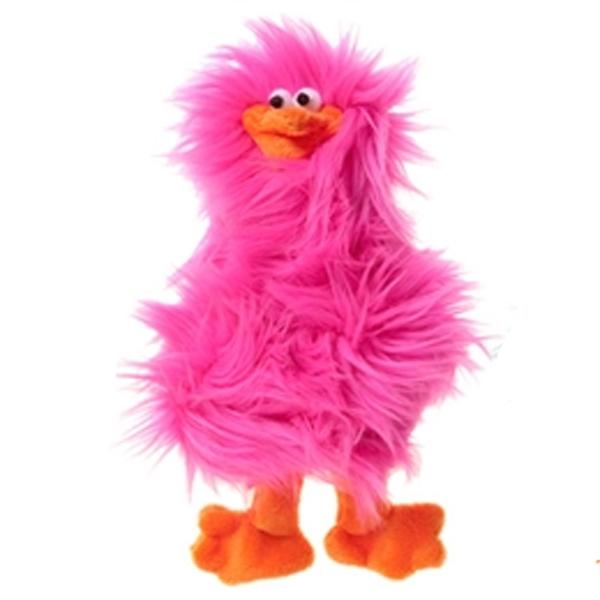 Spring Chicken Dog Toy - Hot Pink