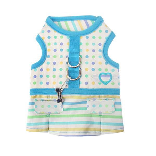 Sprinkles Flirt Harness Dress by Pinkaholic - Blue