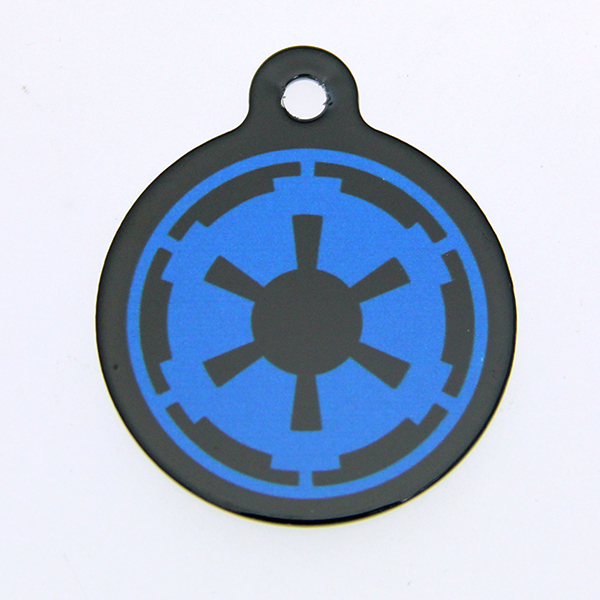 Star Wars QR Code Pet ID Tag - Imperial Logo
